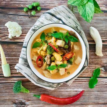 tom yum mushroom soup ready to eat