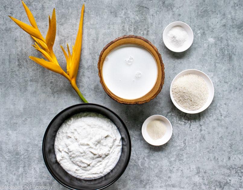 coconut yogurt with raw ingredients