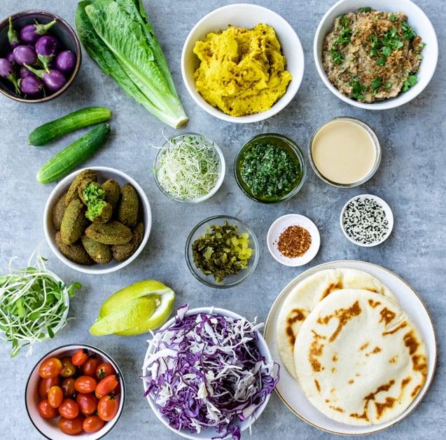 Falafel box ingredients