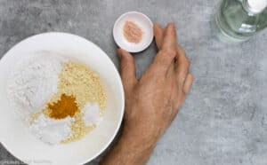 chickpea socca ingredients for making batter