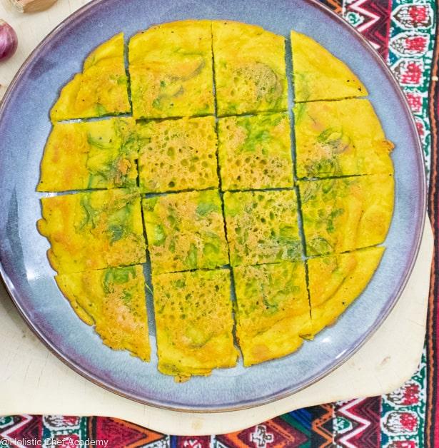 vegn Thai omelet ready to eat