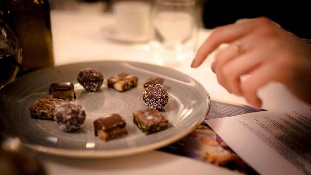 fine dining sweets been enjoyed after a meal