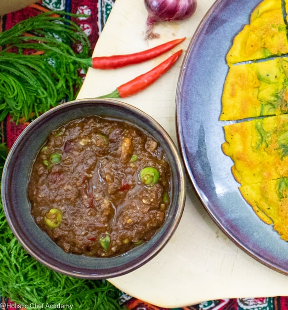 vegan Thai chili and eggplant dip