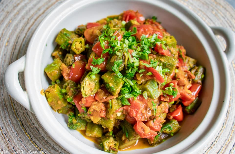bhindi masalas cooked and ready to serve