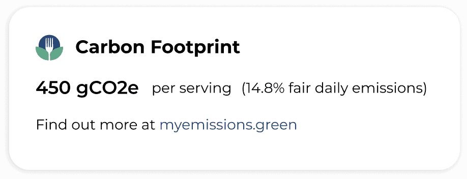 carbon footprint food label
