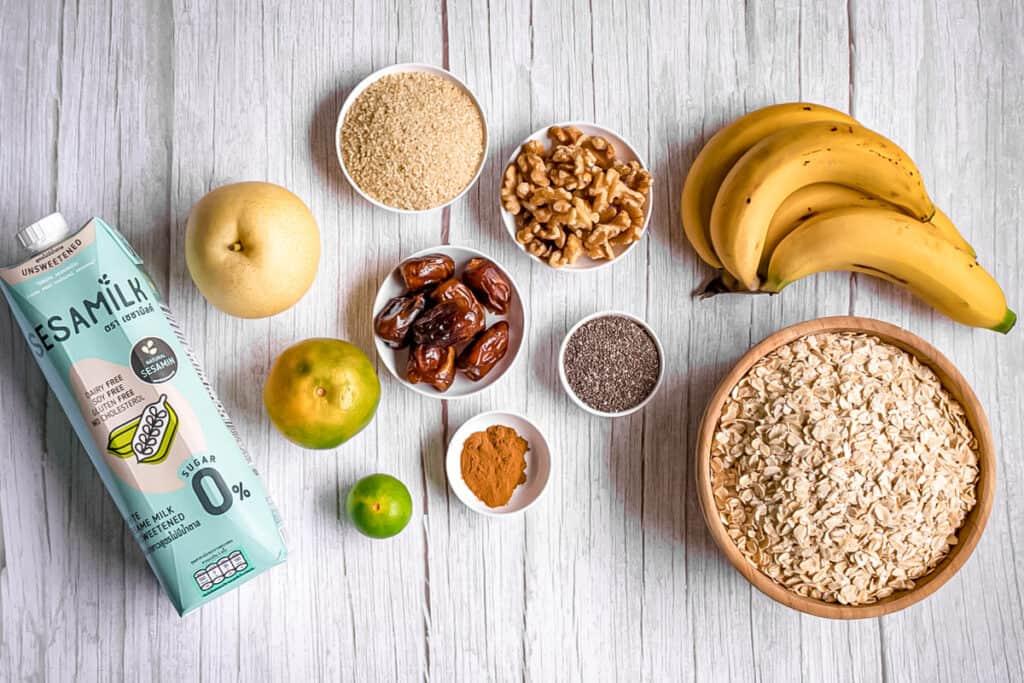 fresh-ingredients-for-sesame-bircher