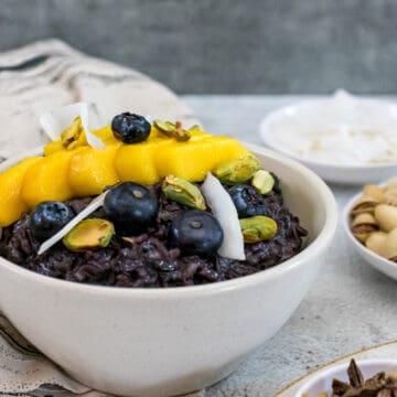 Asian-black-rice-porridge-in-a-bowl