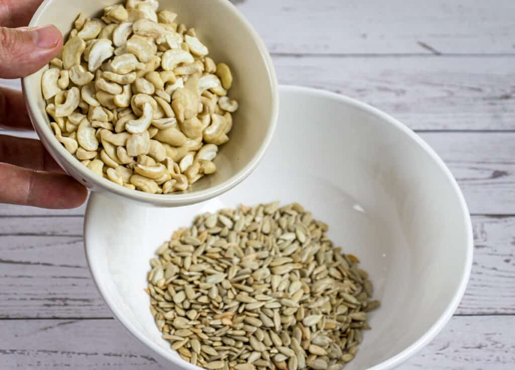 add-cashew-nuts-to-mixing-bowl