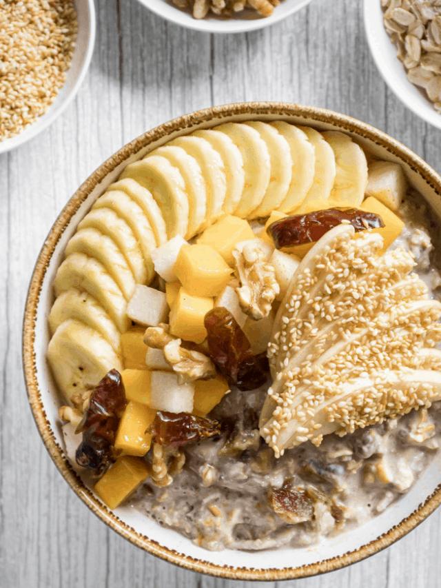 Asian Pear & Sesame Milk Bircher Recipe