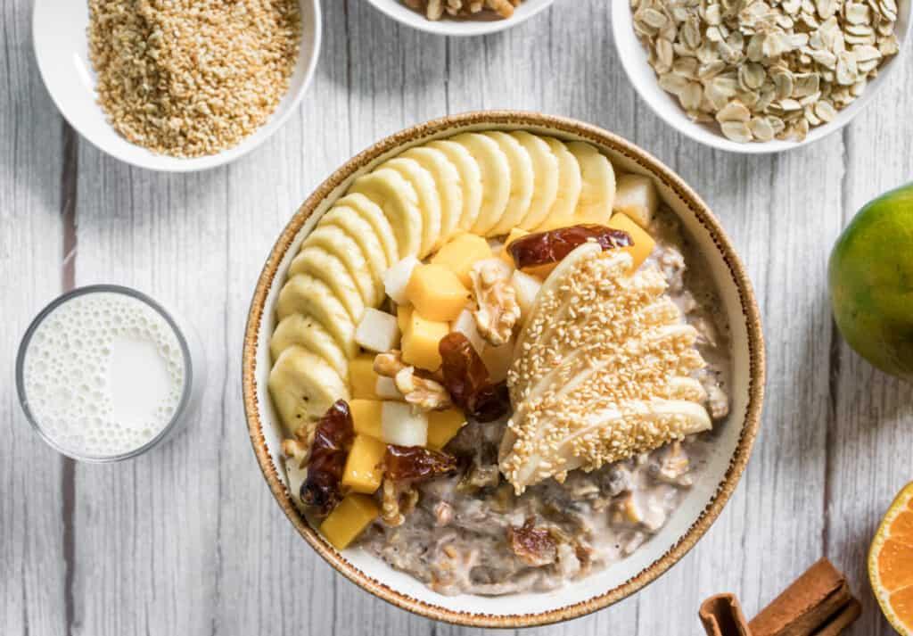 sesame-bircher-is-served-for-breakfast