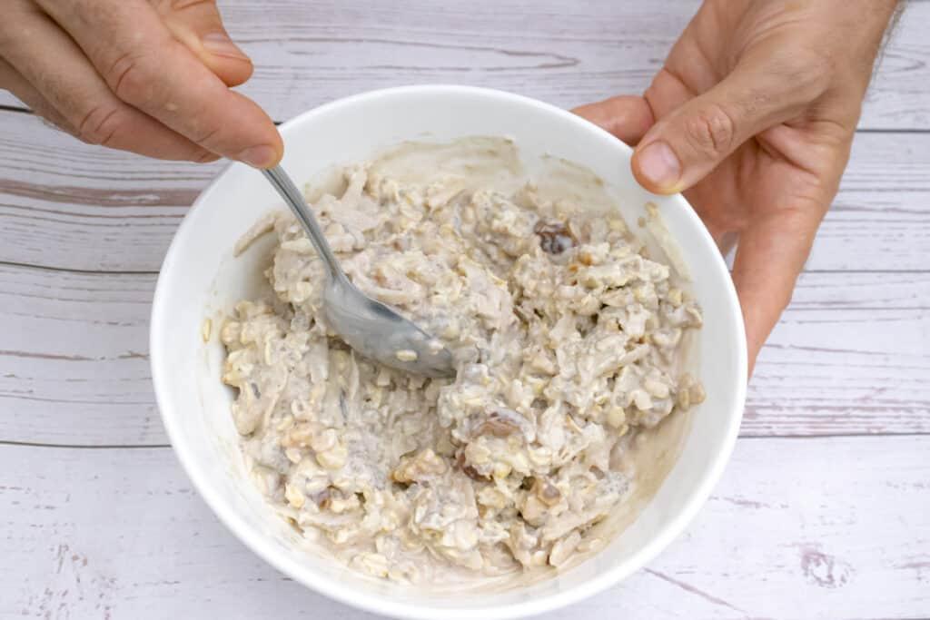 mixing-the-sesame-milk-oats