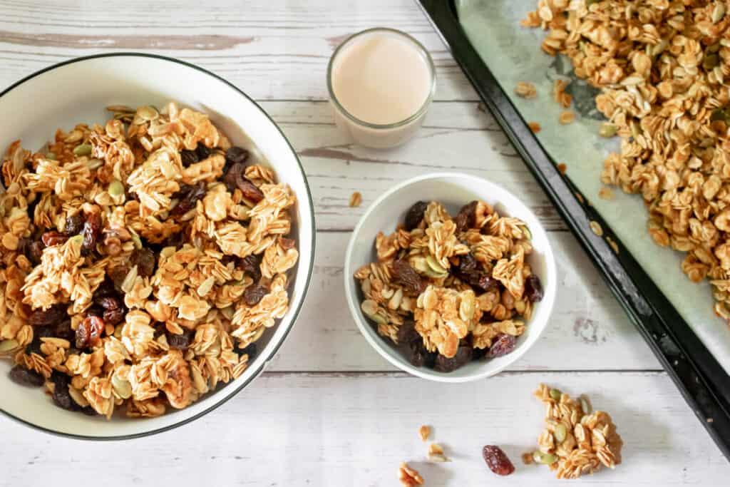 vegan-granola-served-with-plant-milk