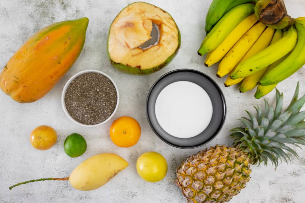 ingredients-for-making-coconut-chia-seed-pudding