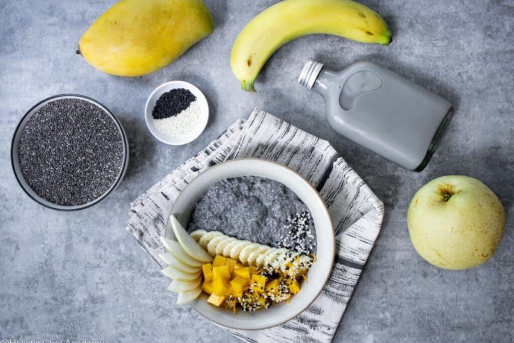 black-sesame-chia-pudding-served-for-breakfast