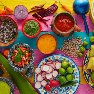 vegan-mexican-food-display